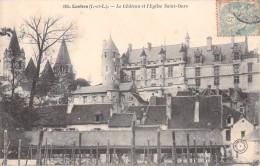 37 LOCHES LE CHATEAU ET L EGLISE SAINT OURS - Loches
