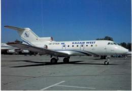 Thème -  Avion - OKC A691 -Kazair West - Yak 40K - Almaty 1999 - 1946-....: Moderne
