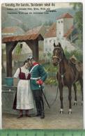 Lustig Ihr Leute, Soldaten Sind Da  , 1915Verlag: ---------., FELD- Postkarteohne  Frankatur  Mit Stempel  10.4.15MIT BE - Neuruppin