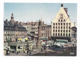 CPM - LILLE (59) Place Du Général De Gaulle (très Animée - Voitures - Bus) - Lille