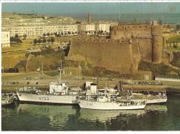 1974  CPSM  .  BREST .  Port De Guerre Et De Commerce . Mission Hydrographique Devant Le Chateau. - Brest