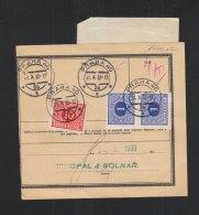 Czechoslovakia Parcel Card 1933 - Briefe U. Dokumente