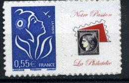 N° 3802D Marianne Lamouche 0,55€ Petite Vignette Cote 45€ En Parfait état - Adhésifs (autocollants)