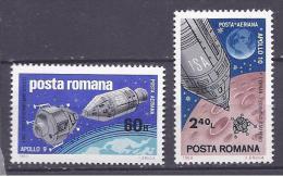 Romania1969: APOLLO 9 Michel2779-80mnh** - Space