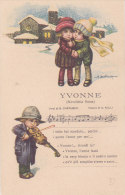 """CARD BERTIGLIA BIMBI VIOLINO CANZONETTA """"YVONNE"""" NOVELLETTA RUSSA -FP N-2-   0882 19544 - Bertiglia, A."""