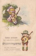 """CARD BERTIGLIA BIMBI CHITARRA MANDOLINO  CANZONETTA """"DDOJE SERENATE"""" COME DA SCANNER -FP N-2-   0882 19543 - Bertiglia, A."""