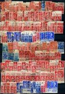 Lot De 230 Timbres Avec Bande Pub Oblitérés (jamais Plus De 4 Ex De Chaque) Environ 5 Centimes Le Timbre - 1960-.... Oblitérés
