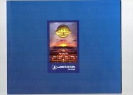 AVIATION -  PETIT LIVRE - FASCICULE DE 51 PAGES -  UZBEKISTAN  AIRWAYS  15  YIL - Papiere