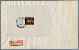 5205 - DEUTSCHES REICH - Block 4 (Das Braune Band), Auf Orts-R-Brief Mit Sonderstempel -  - GERMANY, Mini Sheet On Cover - Blocks & Kleinbögen