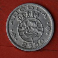 ANGOLA  2,5  ESCUDOS  1956   KM# 77  -    (Nº04610) - Angola