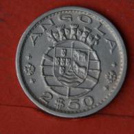 ANGOLA  2,5  ESCUDOS  1974   KM# 77  -    (Nº04612) - Angola