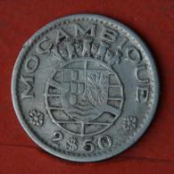 MOZAMBIQUE  2,5  ESCUDOS  1954   KM# 78  -    (Nº04625) - Mozambique