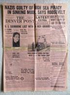The Denver Post - June 21, 1941 - NAZIs Guilty Of High Sea Piracy - Roosevelt [#A0498] - News/ Current Affairs