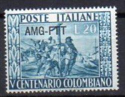 1951 Trieste A -  Colombo N.115 INTEGRO MNH** - 7. Trieste