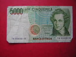 1 BILLET  ITALIEN / ITALIE / ITALIA   5000 LIRES CINQUEMILA  1985 - 5000 Lire