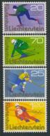 BL3-259 LIECHTENSTEIN 1975 YV 549 SPORT, OLYMPICS INNSBRUCK, ICE HOCKEY, SKATING, SKIEEN. MNH, POSTFRIS, NEUF**. - Winter 1976: Innsbruck