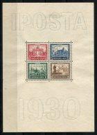 3105 - DEUTSCHES REICH - Block 1 (IPOSTA), Mängel Und Falz Im Rand, Marken Postfrisch - Mini Sheet With Mnh Stamps - Blocks & Kleinbögen