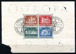 3106 - DEUTSCHES REICH - Block 3 (OSTROPA), Starke Mängel, Marken Einwandfrei Gestempelt - Offer Is For Used Stamps Only - Blocks & Kleinbögen