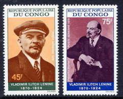 CONGO (Peoples Republic) 1970 Lenin Death Anniversary Set   MNH / **.  Sc. C96-97 - Congo - Brazzaville