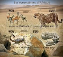 TOGO 2011 - Scorpion, Sahara Desert - YT 2624-7; CV = 17 € - Spinnen