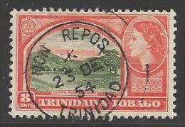 1953 8 Cent Queen Elizabeth II, Used - Trinité & Tobago (...-1961)
