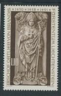 BL3-267 LIECHTENSTEIN 1976 YV 607 ORTLIEB VON BRANDIS, RELIGION, RELIGIE. MNH, POSTFRIS, NEUF**. - Christentum