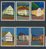 BL3-272 LIECHTENSTEIN 1978 YV 633-638 BAUTEN, BUILDINGS, BATIMENTS. MNH, POSTFRIS, NEUF**. - Monumenten