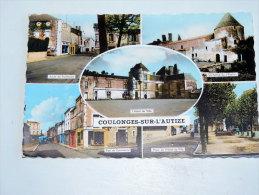 Carte Postale Ancienne : COULONGES SUR L'AUTIZE En 5 Vues - Coulonges-sur-l'Autize