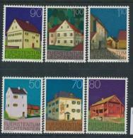 BL3-274 LIECHTENSTEIN 1978 YV 641-646 BATIMENTS, BAUTEN, GEBOUWEN, BUILDINGS. MNH, POSTFRIS, NEUF**. - Monumenten