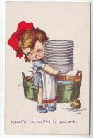 CPA  Fantaisie  Enfants Vaisselle - Fancy Cards
