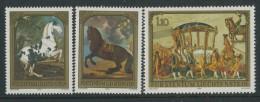 BL3-278 LIECHTENSTEIN 1978 YV 658-660 KUTSCH, CAROSSE, HORSES, CHEVEAUX, PFERDEN, PAARDEN. MNH, POSTFRIS, NEUF**. - Astrologie