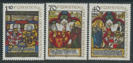 BL3-283 LIECHTENSTEIN 1979 YV 672-674 VITRAUX, BRANDGLAS. MNH, POSTFRIS, NEUF**. - Vetri & Vetrate