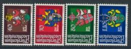 BL3-291 LIECHTENSTEIN 1980 YV 684-687 ARMOIRES,WAPPEN, COTE OF ARMS. MNH, POSTFRIS, NEUF**. - Postzegels