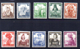 Costumes Régionaux,  Trachten  Yv. 547 / 556*, Cote 47,50 €, - Unused Stamps