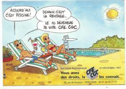 Elections Prud' Homales , Carte CFE - CGC - 10 Décembre 1997 - Dos Simple Non Voyagée - Gewerkschaften