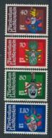 BL3-296 LIECHTENSTEIN 1981 YV 707-710 ARMOIRES, WAPPEN, COTE OF ARMS. MNH, POSTFRIS, NEUF**. - Postzegels