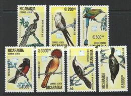 Nicaragua 1989 SC C1172-C1178  MNH Birds - Nicaragua