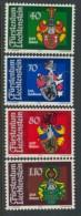 BL3-303 LIECHTENSTEIN 1982 YV 734-737 WAPPEN, ARMOIRES, COTE OF ARMS. MNH, POSTFRIS, NEUF**. - Postzegels