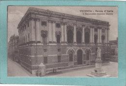 VICENZA  -  BANCA  D ' ITALIA  E  MONUMENTO  GIACOMMO  ZANELLA  -  1918  - - Vicenza