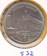 @Y@    Joegoslavie  1  Dinara   2002    (532) - Yougoslavie