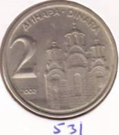 @Y@    Joegoslavie  2  Dinara   2002    (531) - Yougoslavie