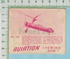 """Aviation Chewing Gum Series, C 1941 ( No.178 USA Autogiro )  Bilingue Français & Anglais """"English"""" - 1939-45"""