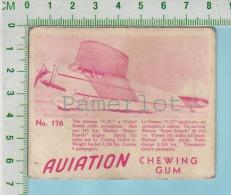 """Aviation Chewing Gum Series, C 1941 ( No.177 Cesna C.37 Monoplan )  Bilingue Français & Anglais """"English"""" - 1939-45"""