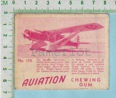 """Aviation Chewing Gum Series, C 1941 ( No.175 Bellanca AirCruser )  Bilingue Français & Anglais """"English"""" - 1939-45"""