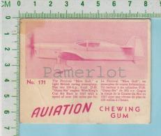 """Aviation Chewing Gum Series, C 1941 ( No.171 Percival Monoplane )  Bilingue Français & Anglais """"English"""" - 1939-45"""