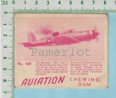 "Aviation Chewing Gum Series, C 1941 ( No.169 Blackburn Roc Marine Royal )  Bilingue Français & Anglais ""English"" - 1939-45"