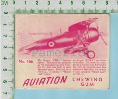 """Aviation Chewing Gum Series, C 1941 ( No.166 Gregor FBD-1 Biplan )  Bilingue Français & Anglais """"English"""" - 1939-45"""