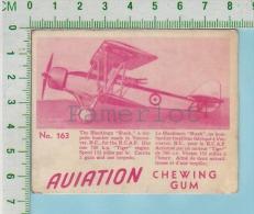 """Aviation Chewing Gum Series, C 1941 ( No.163 Blackburn Shark Bomber )  Bilingue Français & Anglais """"English"""" - 1939-45"""