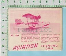 """Aviation Chewing Gum Series, C 1941 ( No.160 Super-marine Stranrear Bomber ) Bilingue Français & Anglais """"English"""" - 1939-45"""