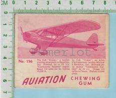 """Aviation Chewing Gum Series, C 1941 ( No.156 Cub Cruiser Training Plane ) Bilingue Français & Anglais """"English"""" - 1939-45"""
